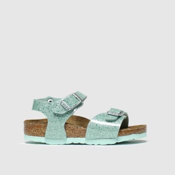 Birkenstock Light Green Rio Plain Girls Toddler