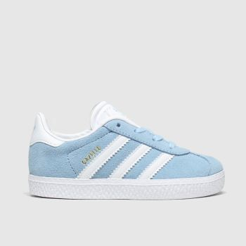 Adidas Pale Blue Gazelle Girls Toddler