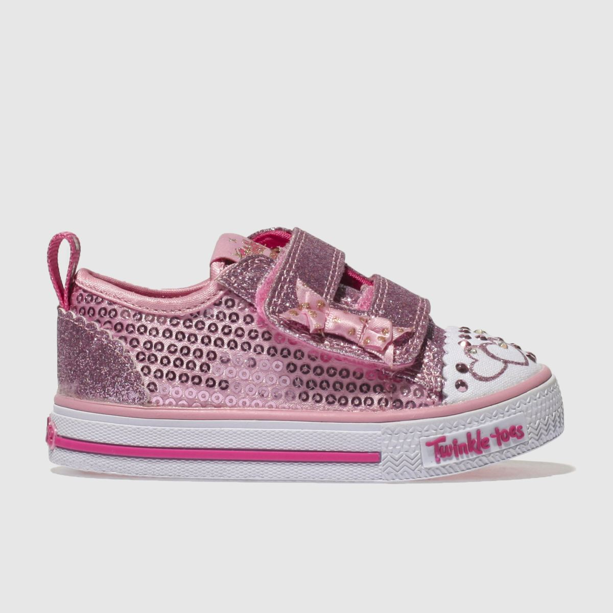 Skechers Pink Shuffles Itsy Bitsy Trainers Toddler