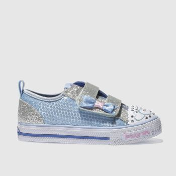 Skechers Pale Blue SHUFFLES ITSY BITSY Girls Toddler