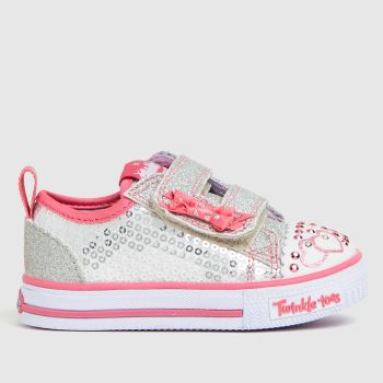 Skechers Silver SHUFFLES ITSY BITSY Girls Toddler