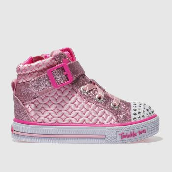 Skechers Pink Shuffles Twinkle Charm Girls Toddler