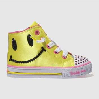 Skechers Yellow Shuffles Sparkle Smile Girls Toddler