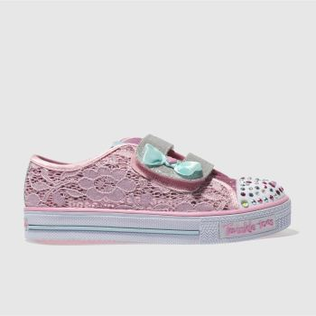 SKECHERS PINK SHUFFLES SWEET STEPPER TRAINERS TODDLER