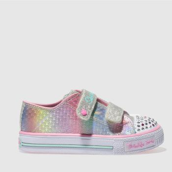SKECHERS PINK & PURPLE SHUFFLES MS MERMAID TRAINERS TODDLER