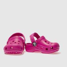 66ef6a204 Girls pink crocs classic clog trainers