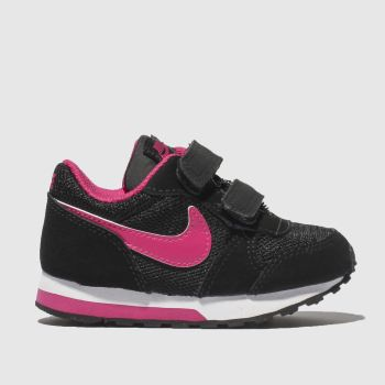 Nike Pink & Black MD RUNNER 2 Girls Toddler