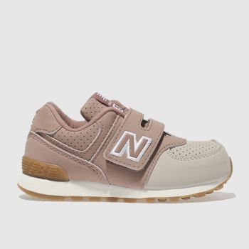 NEW BALANCE PINK 574 TRAINERS TODDLER