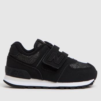 New balance Black 574 Girls Toddler