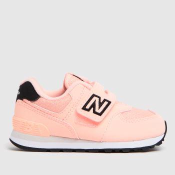 New balance Pink & Black 574 Girls Toddler
