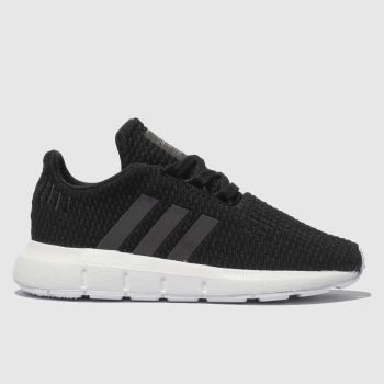 Adidas Black and blue SWIFT RUN Girls Toddler