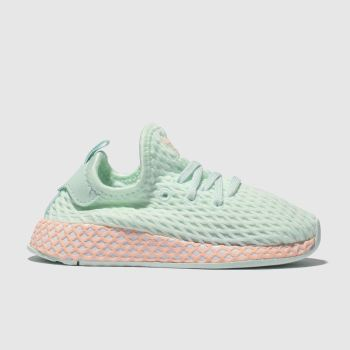 adidas light green deerupt runner trainers toddler