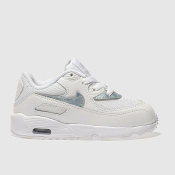Nike White & Pl Blue AIR MAX 90 MESH Girls Toddler