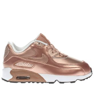 NIKE ROSE GOLD AIR MAX 90 SE GIRLS TODDLER TRAINERS