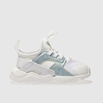 Nike White & Pl Blue HUARACHE RUN ULTRA Girls Toddler