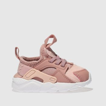 Nike Pink HUARACHE RUN ULTRA Girls Toddler