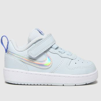 Nike Pale Blue Court Borough Low 2 Girls Toddler#