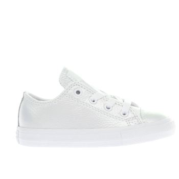 Converse White All Star Lo Girls Toddler