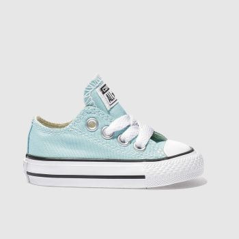CONVERSE TURQUOISE ALL STAR LO GIRLS TODDLER TRAINERS