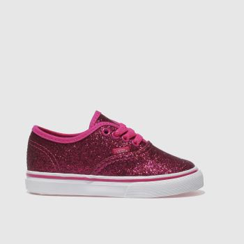 363a344795c29b VANS PINK AUTHENTIC GLITTER TRAINERS TODDLER