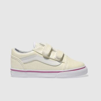 Vans White OLD SKOOL Girls Toddler