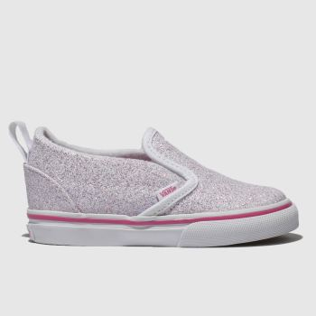 Vans White & Pink Classic Slip-On Girls Toddler