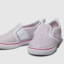 vans white   pink classic slip-on trainers toddler b818f6da6