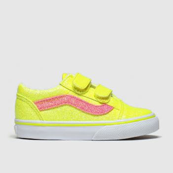 Vans Yellow Old Skool V Girls Toddler#
