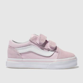 Vans Pale Pink OLD SKOOL V Girls Toddler