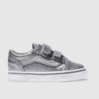 Vans Silver Old Skool Girls Toddler