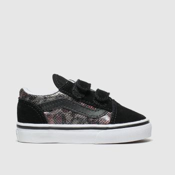 vans black & brown old skool v trainers toddler