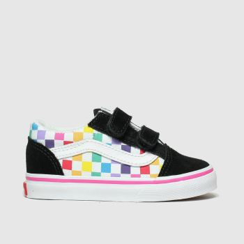 Vans Black & Pink Old Skool V Girls Toddler