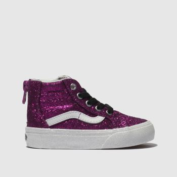 c2822805f9e Vans Pink Sk8-Hi Zip Girls Toddler