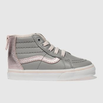 Vans Grey Sk8-Hi Zip Mte Girls Toddler