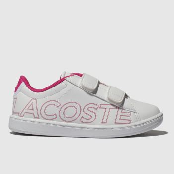 Lacoste White & Pink CARNABY EVO Girls Toddler