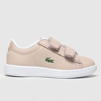 Lacoste Pale Pink Carnaby Evo Strap Girls Toddler