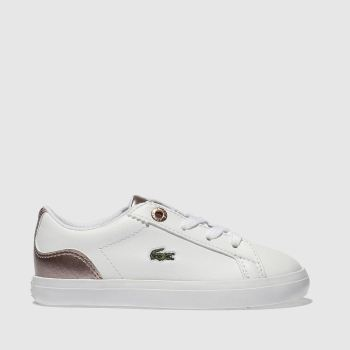 Lacoste White & Pink Lerond Girls Toddler