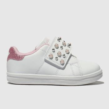 Lelli Kelly White & Pink ERICA Girls Toddler