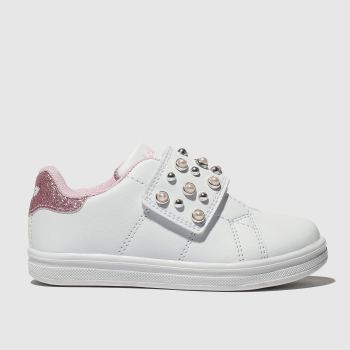LELLI KELLY WHITE & PINK ERICA TRAINERS TODDLER