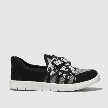 Ugg Black & Grey Seaway Sneaker Girls Toddler