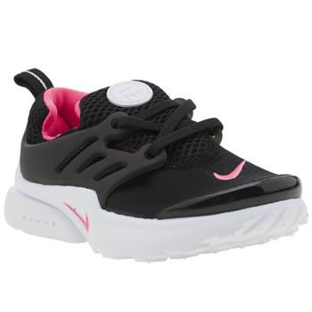 Girls Black Amp Pink Nike Presto Girls Toddler Schuh