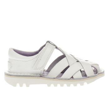 KICKERS WHITE WEAVE GIRLS TODDLER SANDALS