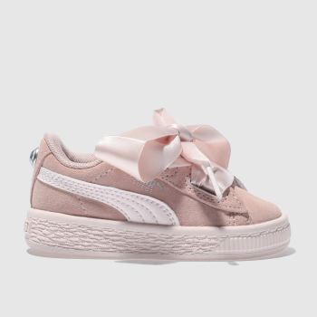Puma Pink Suede Heart Jewel Tdlr Girls Toddler