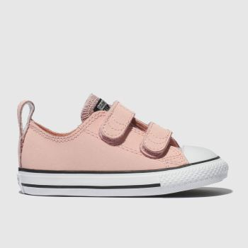 Converse pale pink all star glitter 2v trainers toddler