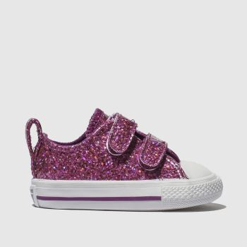Converse Purple All Star Ox 2V Glitter Girls Toddler