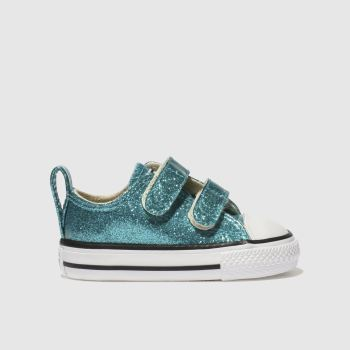 Converse Turquoise All Star Glitter Girls Toddler