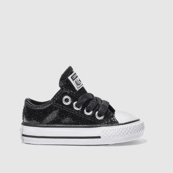 Converse Black ALL STAR GLITTER Girls Toddler