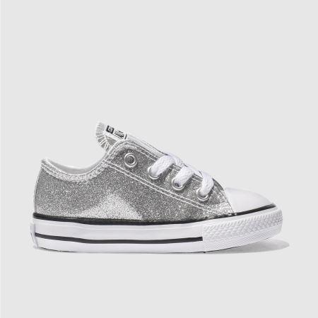 Converse Silver Womens Glitter Ox Shoe
