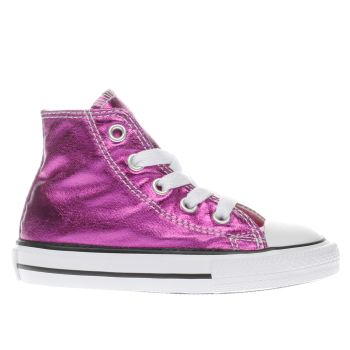 CONVERSE PINK CHUCK TAYLOR ALL STAR HI GIRLS JUNIOR TRAINERS