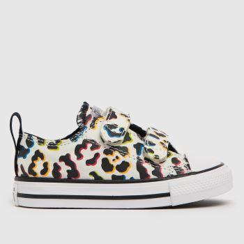 Converse Stone & Black Ctas 2v Lo Leopard Girls Toddler